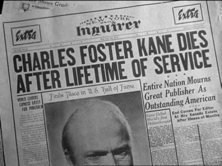 Citizen Kane | Online-Inquirer written & edited by Steve Exeter